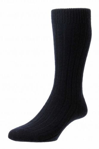 Mens Cashmere Socks - Navy Blue